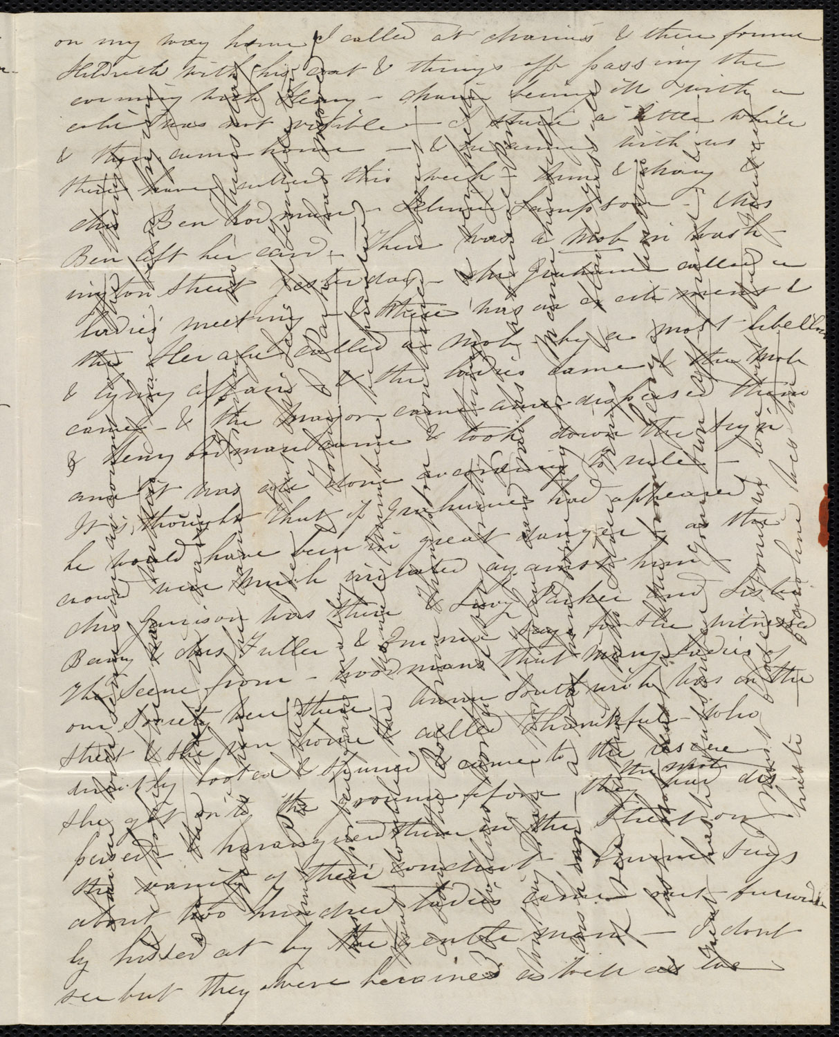 cross writing Two 19th century cross written letters cross writing was a technique to save paper when paper was scarce every scrap mattered at one time (one of these is dated 1823) so the writer, upon reaching the end of the page, would turn the paper 90 degrees and add a second layer of text.